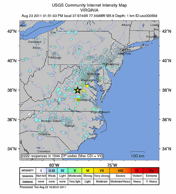 Virginia Earthquake Survey: Most Americans Not Affected