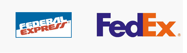 FedEx logo old new