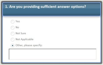 Are You Ready? Making Sure Online Survey Answer Options Are Complete
