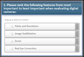 Rank Order Questions in Online Surveys:  A Question of Priority