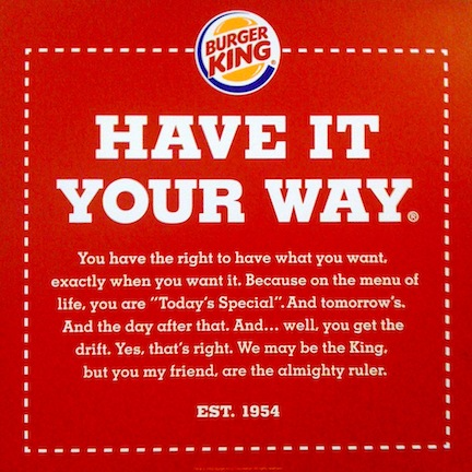 burger king have-it-your-way online ad