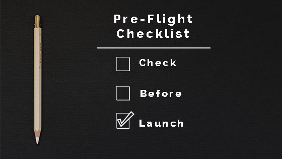 Pre-flight Checklist